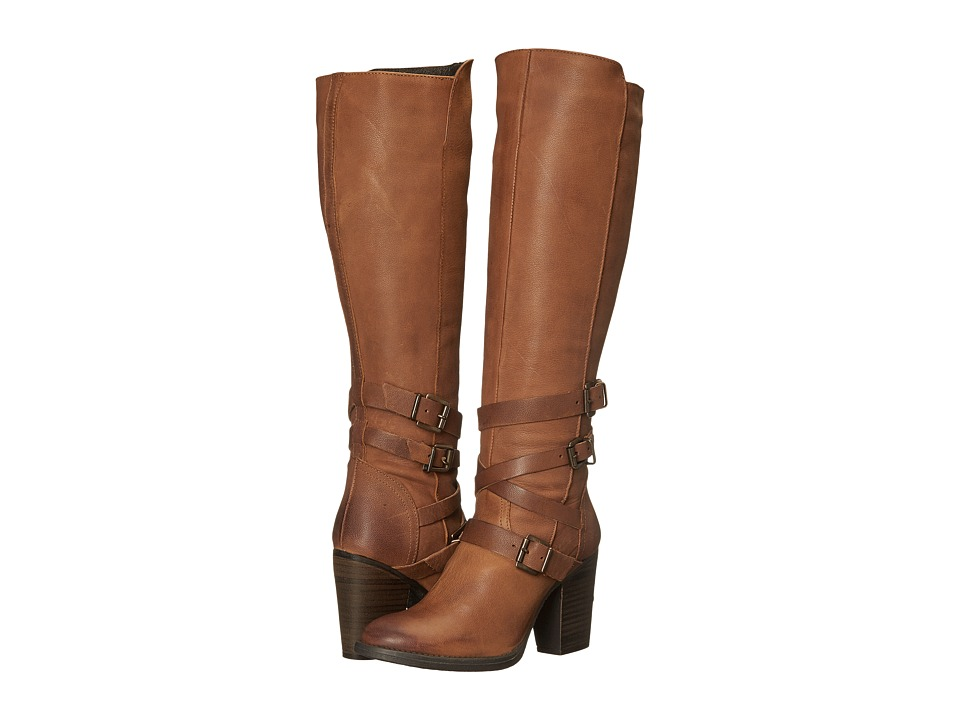 Steve Madden York (Cognac Leather) Women