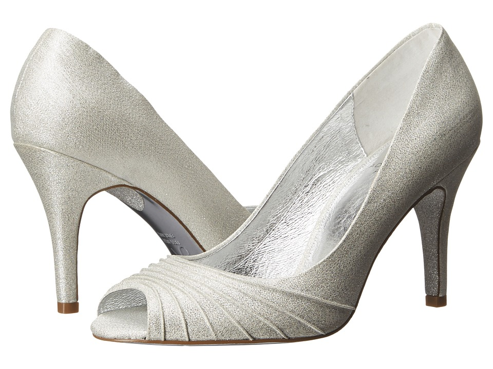 Adrianna Papell Farrel (Silver Deco Lame) High Heels