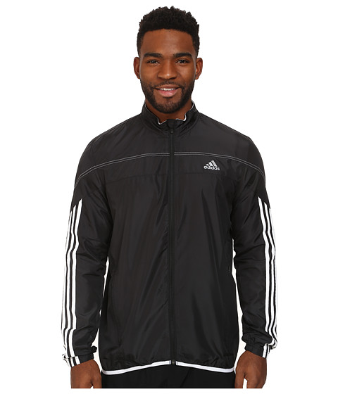 adidas - Response Running Jacket (Black/White) Men's Jacket