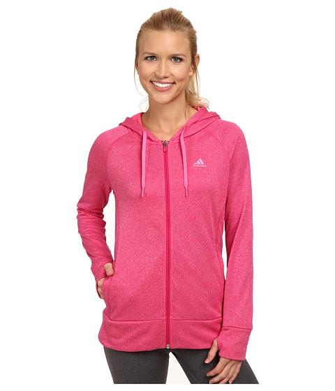 adidas - Ultimate Full-Zip Hoodie (Bold Pink/Solar Pink) Women