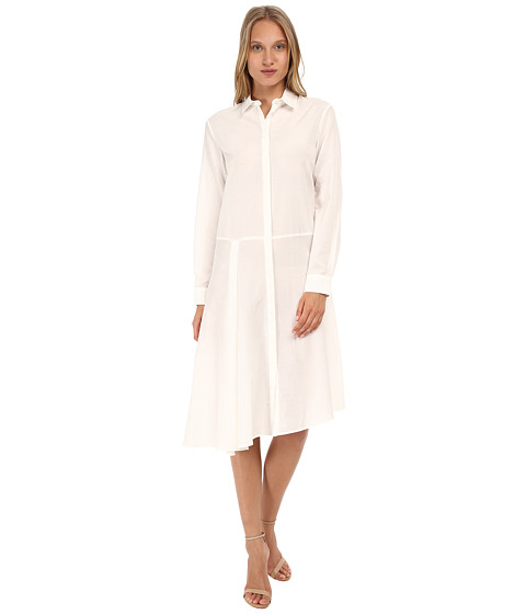 McQ - Drape Shirtdress (Stone) Women's Dress