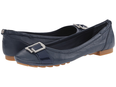 Calvin Klein - Calayla (Navy Leather) Women's Slip on Shoes