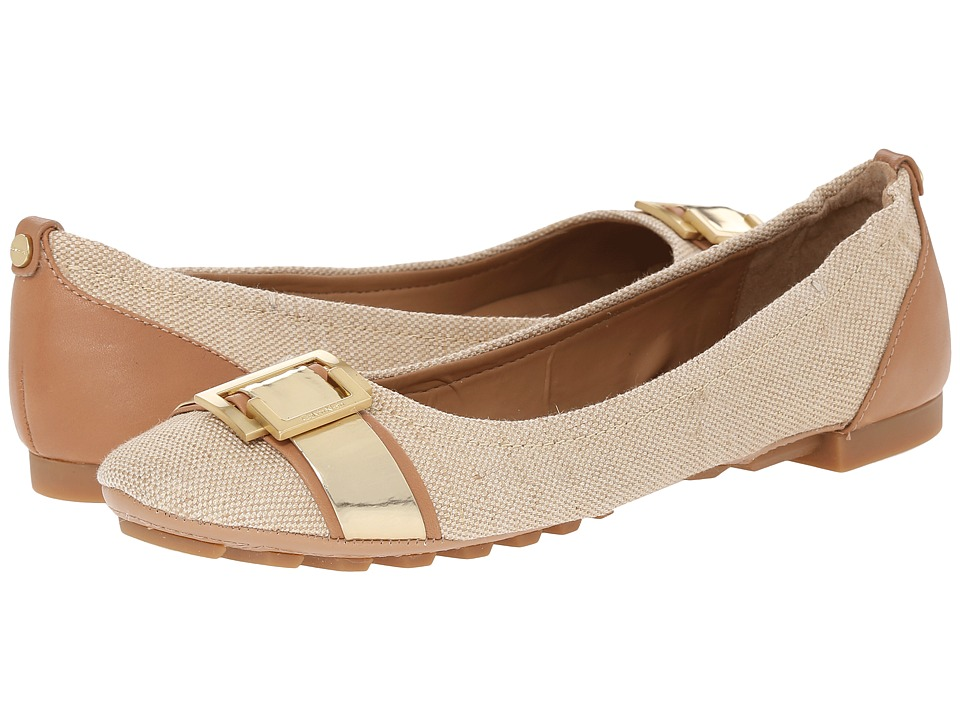 Womens Shoes Calvin Klein Calayla Gold/Sand Gold Canvas/Leather