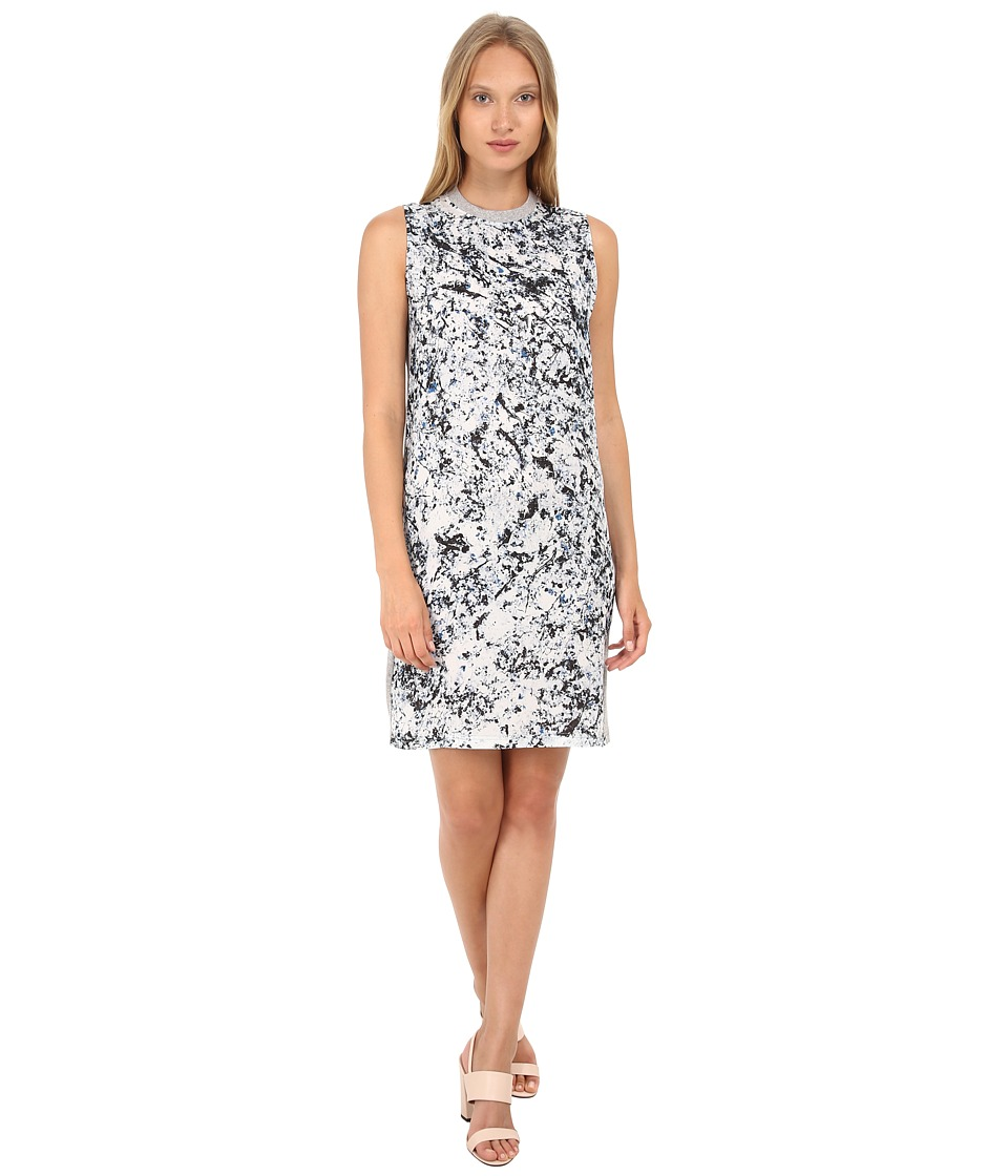 McQ - Long Box Silk Dress (Marble Print) Women's Dress