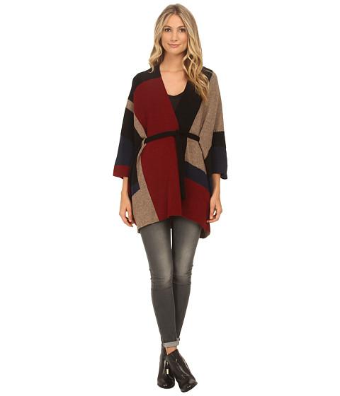 Joie - Jannelo 4329-K1811 (Deep Scarlet/Deep Sapphire/Heather Mahogany/Caviar) Women's Sweater