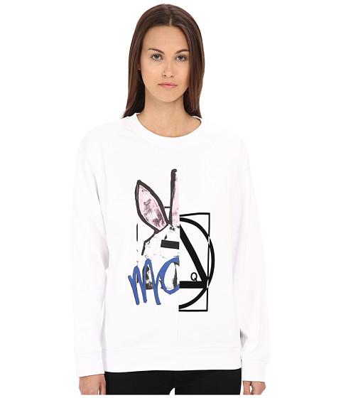 McQ - Classic Sweatshirt (Optic White) Women