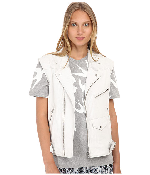 McQ - Biker Gilet (Cracked White) Women