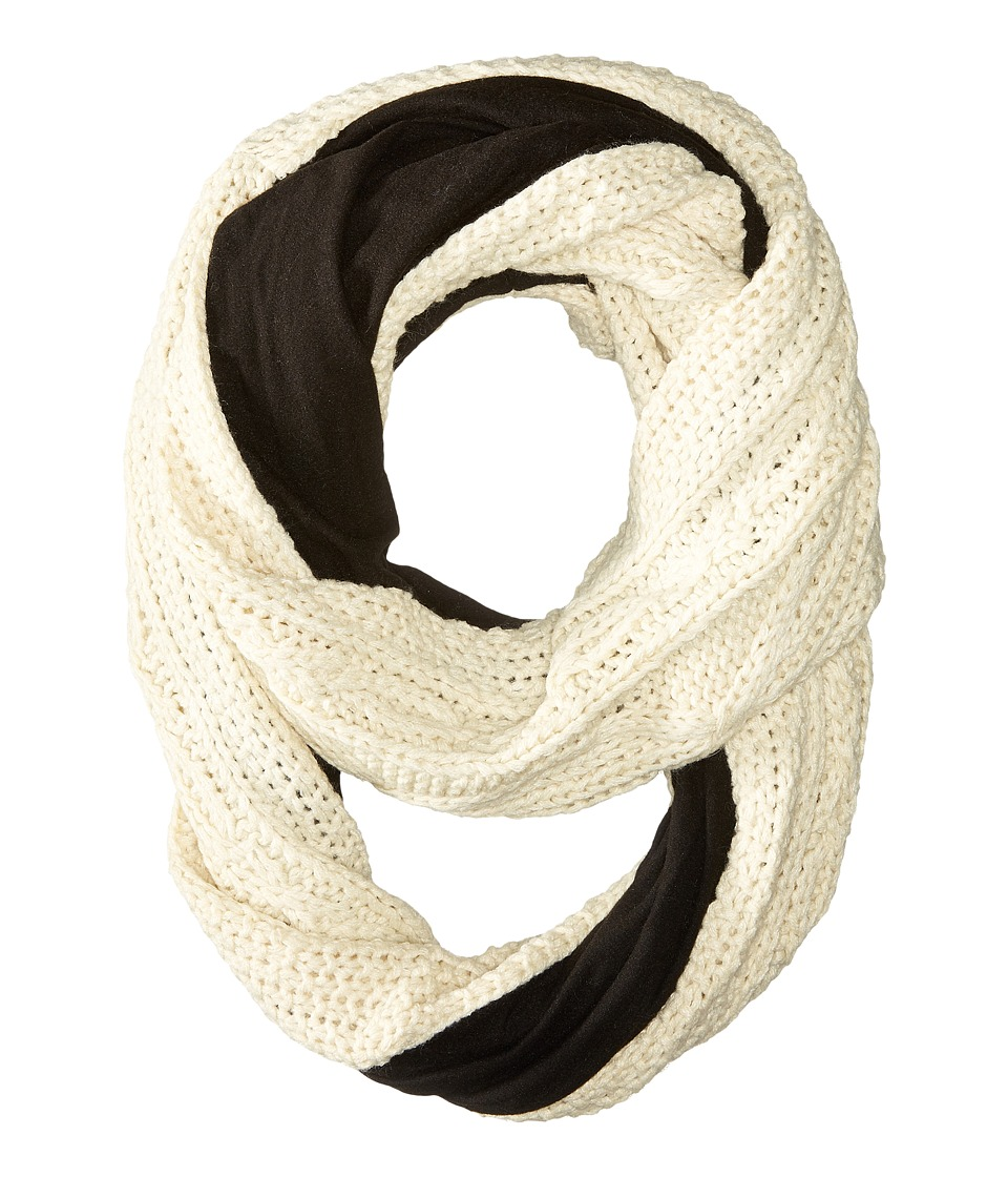 Plush - Fleece - Lined XO Cable Infinity Scarf (Oatmeal) Scarves