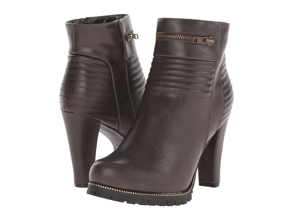 C Label - Binky-5 (Grey) Women's Zip Boots