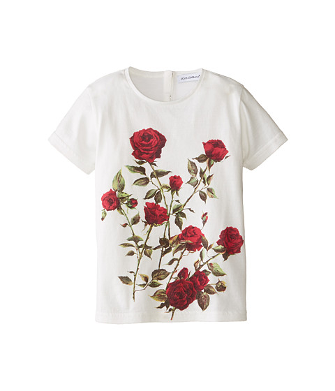 Dolce & Gabbana - Ceremony Print Short Sleeve T-Shirt (Infant) (White) Women