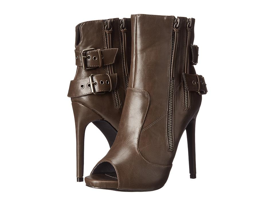 C Label - Olive-37 (Dark Grey) Women's Zip Boots