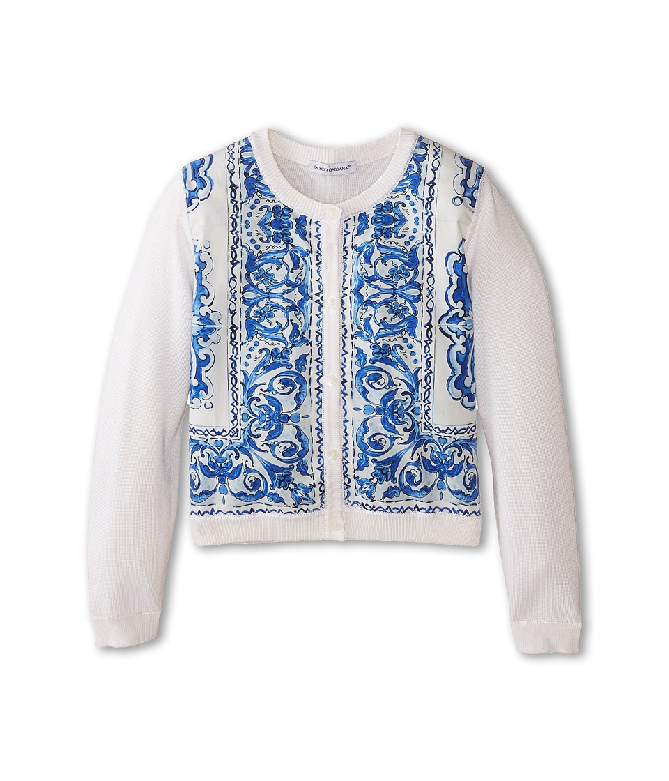 Dolce & Gabbana - Mediteranean Print Cardigan (Infant) (Print) Women's Sweater