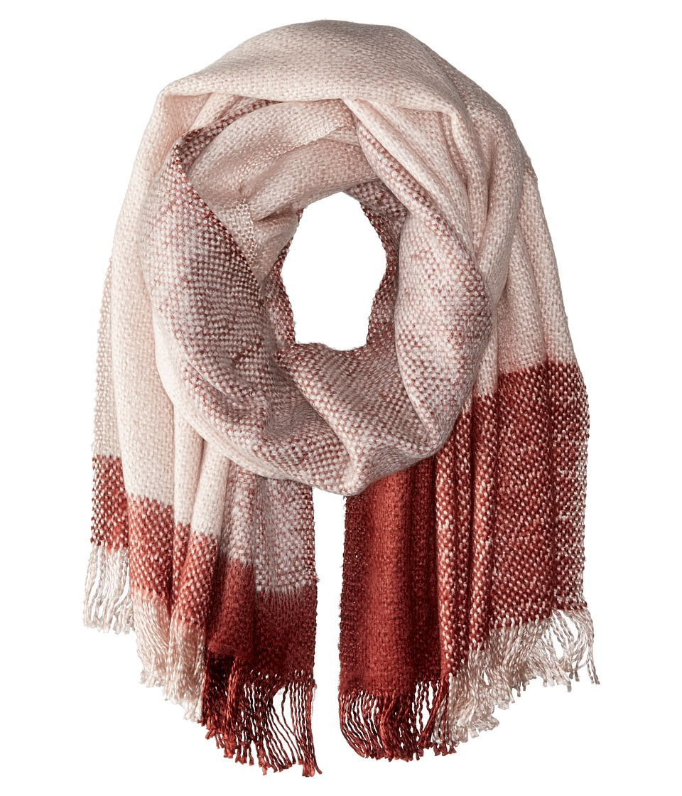 BCBGMAXAZRIA - Brushed Color Block Runway Wrap (Light Pink Powder) Scarves
