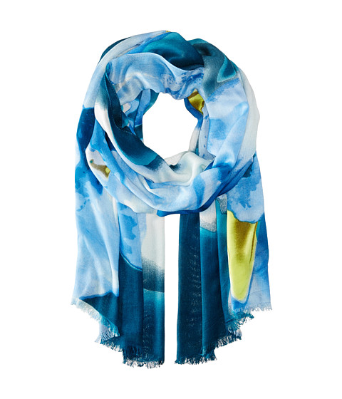 Vince Camuto - Blurred Blooms (Leigon Blue) Scarves