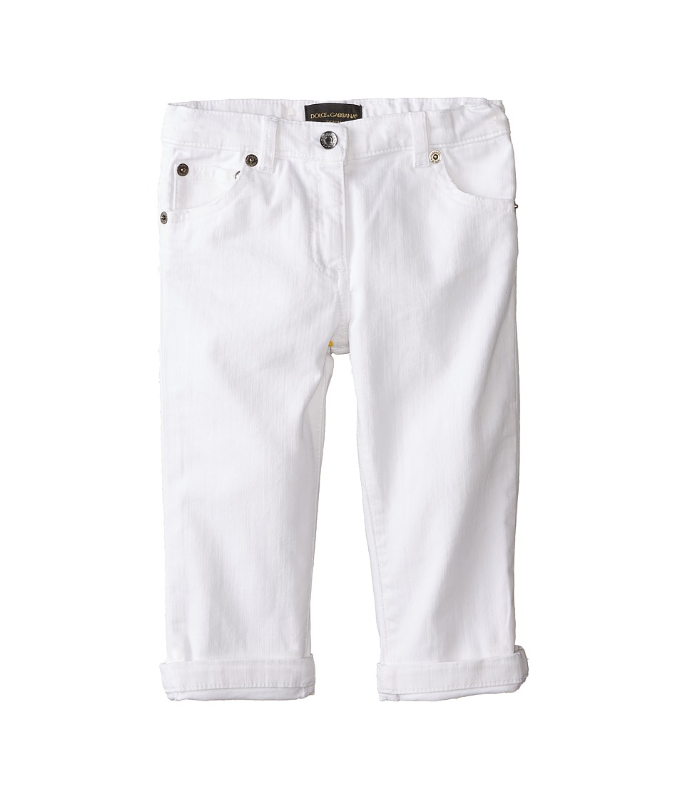 Dolce & Gabbana Kids - Mediteranean Five-Pocket Jeans in White/Denim (Infant) (White/Denim) Girl's Jeans