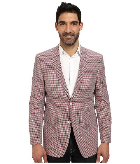 U.S. POLO ASSN. - Check Two-Button Blazer (Red/Black/White) Men's Jacket