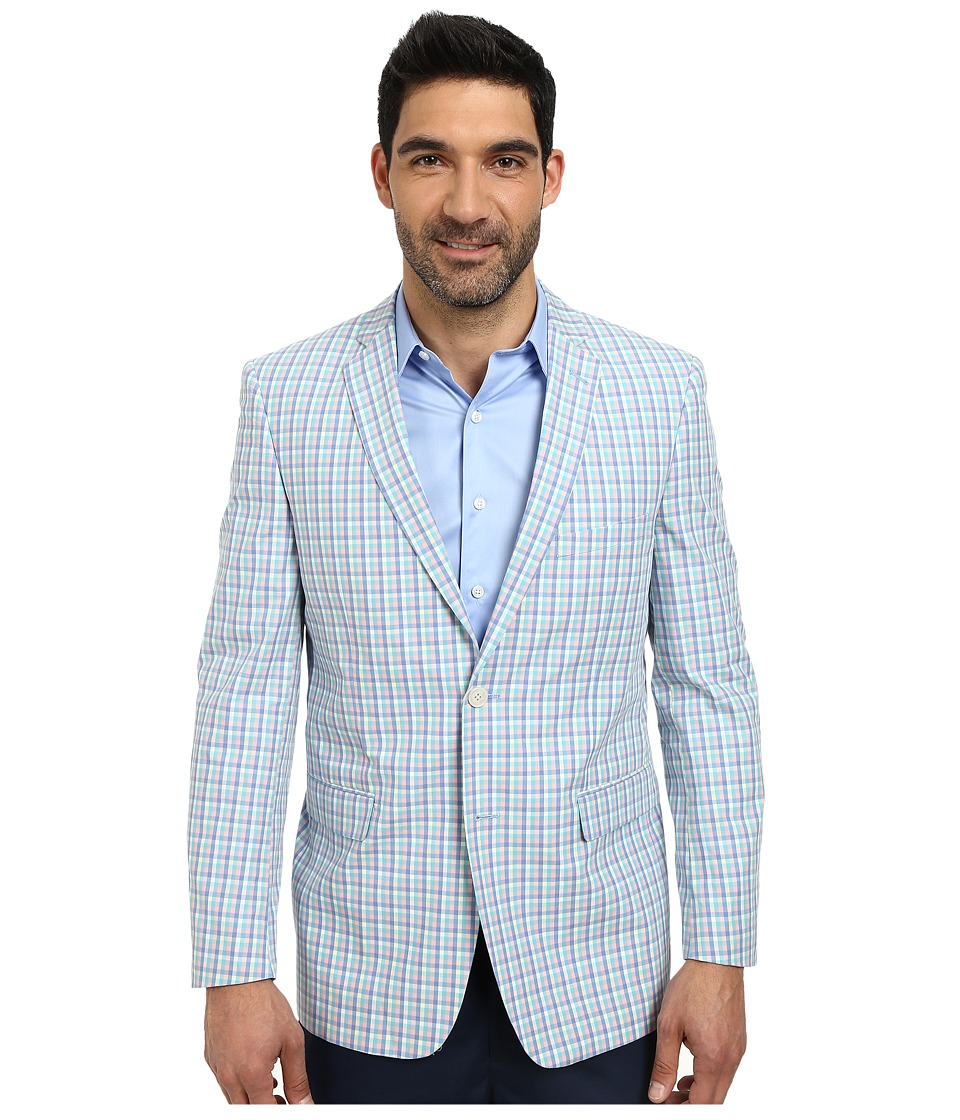U.S. POLO ASSN. - Bold Plaid Two-Button Blazer (Light Pastel Mix) Men's Jacket