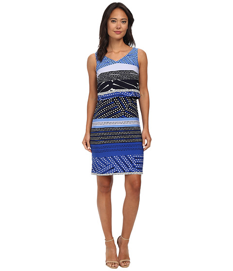 Donna Morgan - Jersey Bodycon Popover Dress (Iceberg Multi) Women
