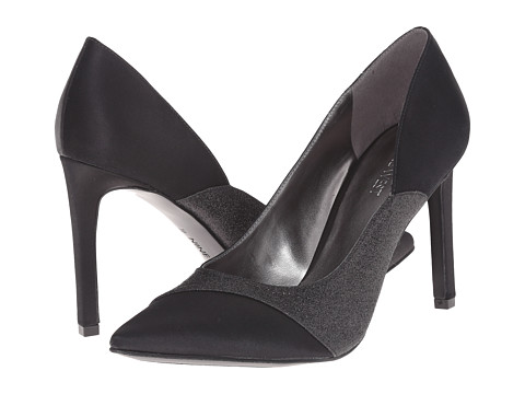 Nine West - Caviar (Black/Black Satin) High Heels