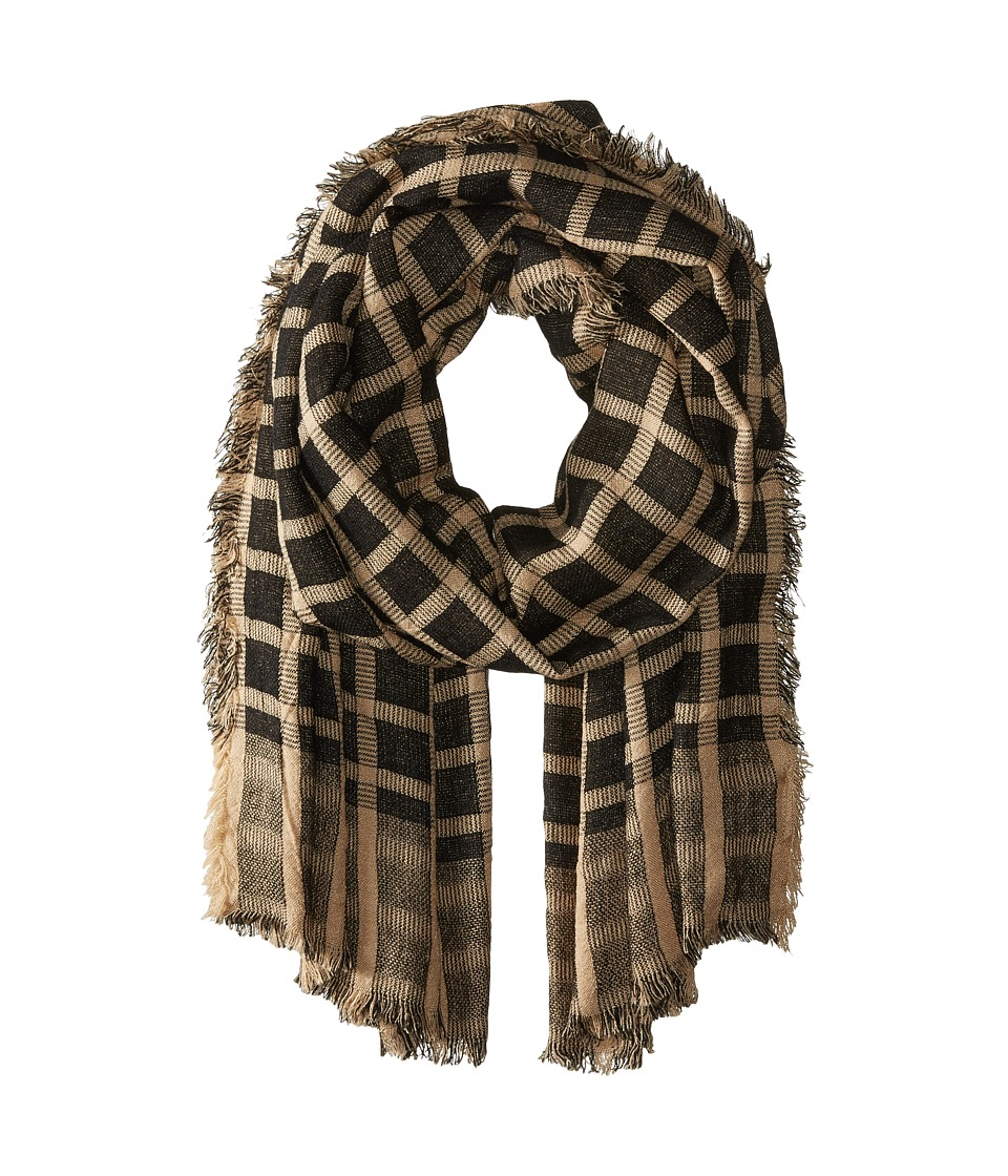 Vince Camuto - Check-Mate Wrap (Cuban Sand) Scarves