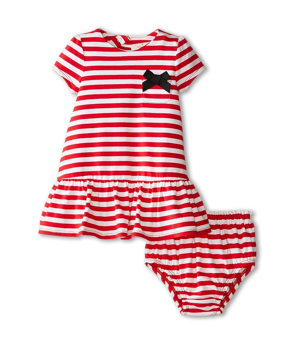 Kate Spade New York Kids - Lena Dress (Infant) (Red/Cream) Girl's Dress