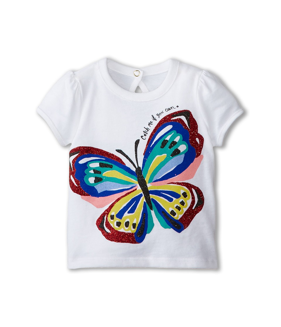 Kate Spade New York Kids - Brushstroke Butterfly Tee (Infant) (Fresh White) Girl