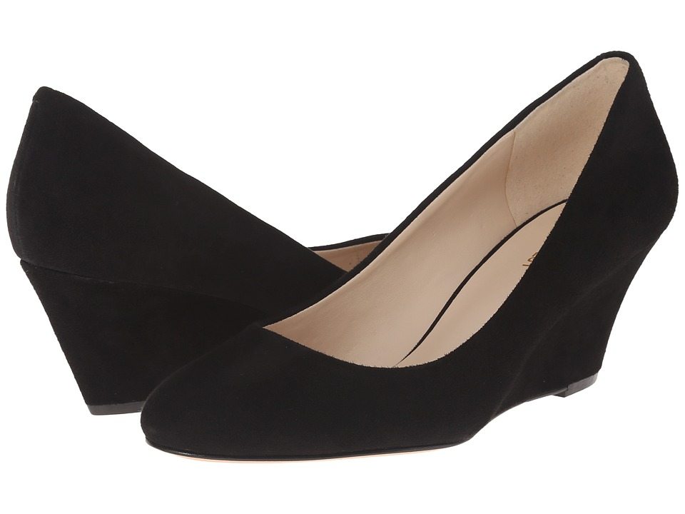 Nine West - Mela (Black Suede) Women's Wedge Shoes