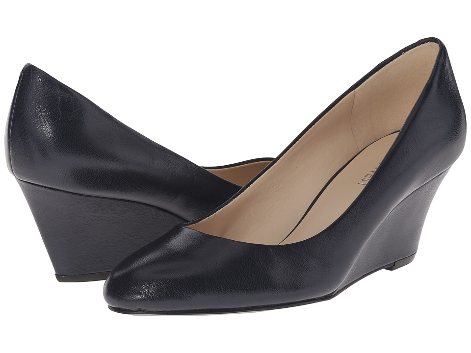 Nine West - Mela (Navy Leather) Women's Wedge Shoes