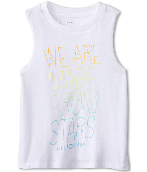 Billabong Kids - Made From Stars Tee (Little Kids/Big Kids) (White) Girl