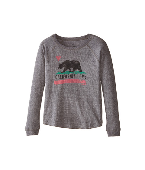 Billabong Kids - Cali Love Long Sleeve Tee (Little Kids/Big Kids) (Dark Athletic Grey) Girl's T Shirt