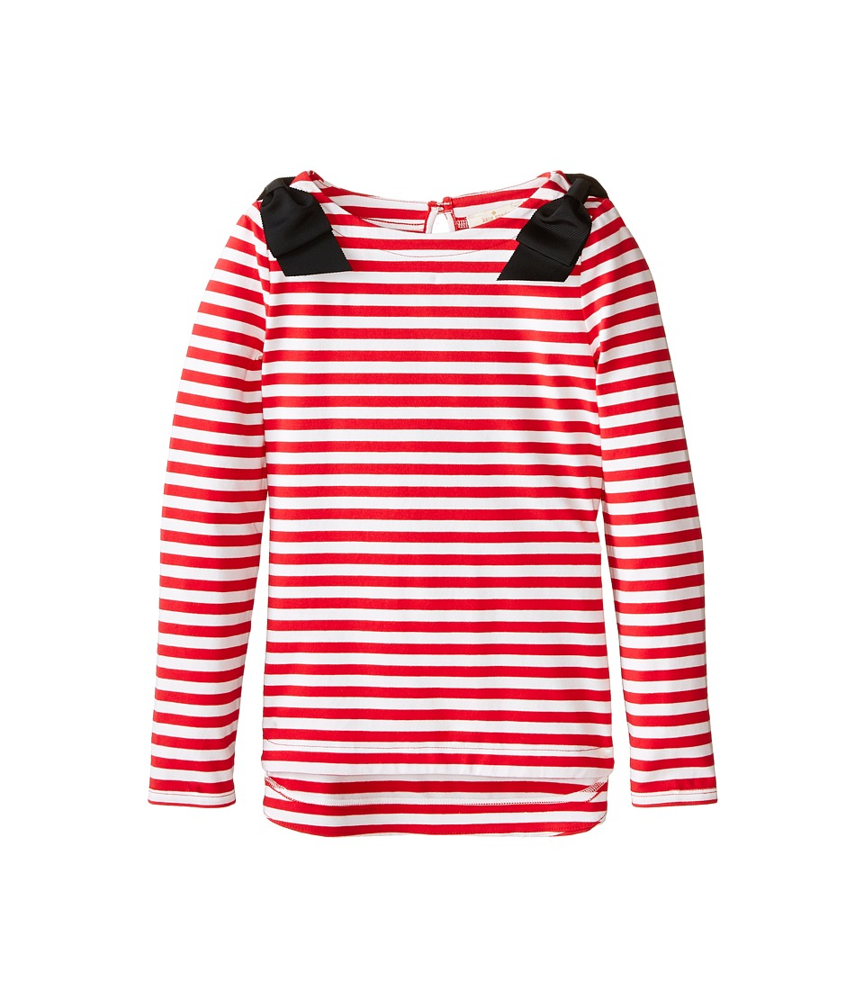 Kate Spade New York Kids - Lena Tee (Big Kids) (Red/Cream) Girl