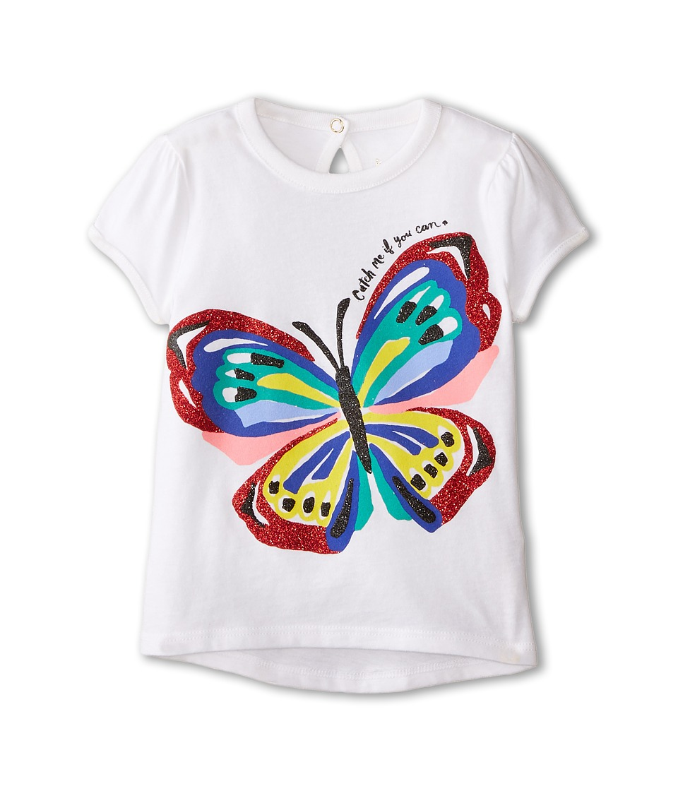 Kate Spade New York Kids - Brushstroke Butterfly Tee (Toddler/Little Kids) (Fresh White) Girl's T Shirt