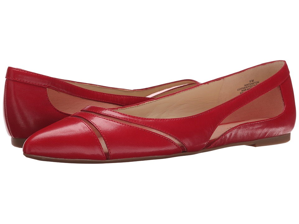 Nine West - Saxton (Red/Red Leather) Women's Slip on Shoes