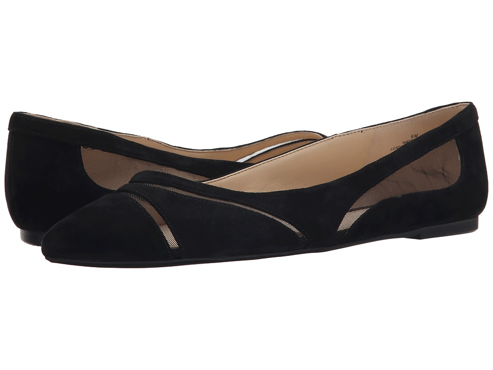 Nine West - Saxton (Black/Black Suede) Women's Slip on Shoes
