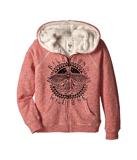 Billabong Kids - Passing Storms Sweatshirt (Little Kids/Big Kids) (Hot Coral) Girl