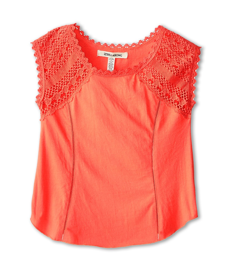 Billabong Kids - Great Love Tee (Little Kids/Big Kids) (Hot Coral) Girl