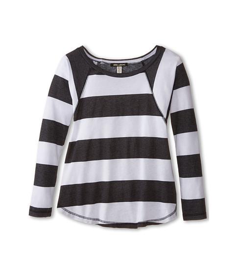 Billabong Kids - Bright Light Stripe Long Sleeve Tee (Little Kids/Big Kids) (Black/White) Girl
