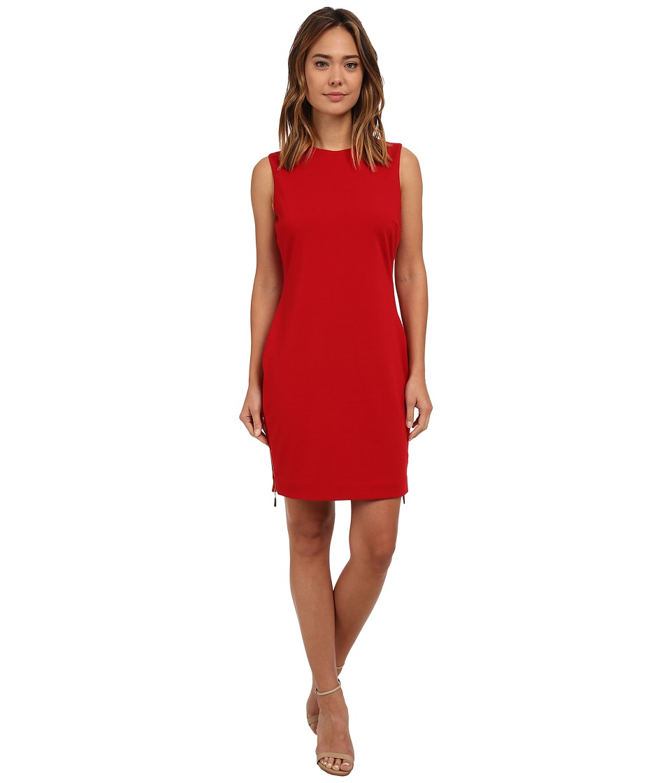 rsvp - Bianca Ponte Dress (Crimson) Women's Dress