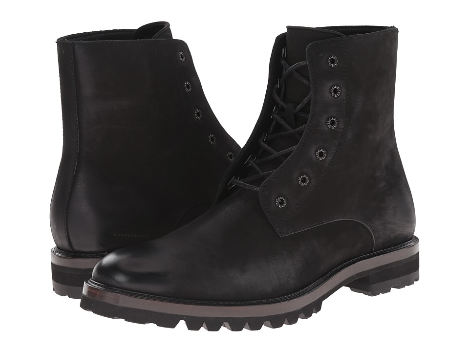 Kenneth Cole New York - Chill-ER (Black) Men's Lace-up Boots