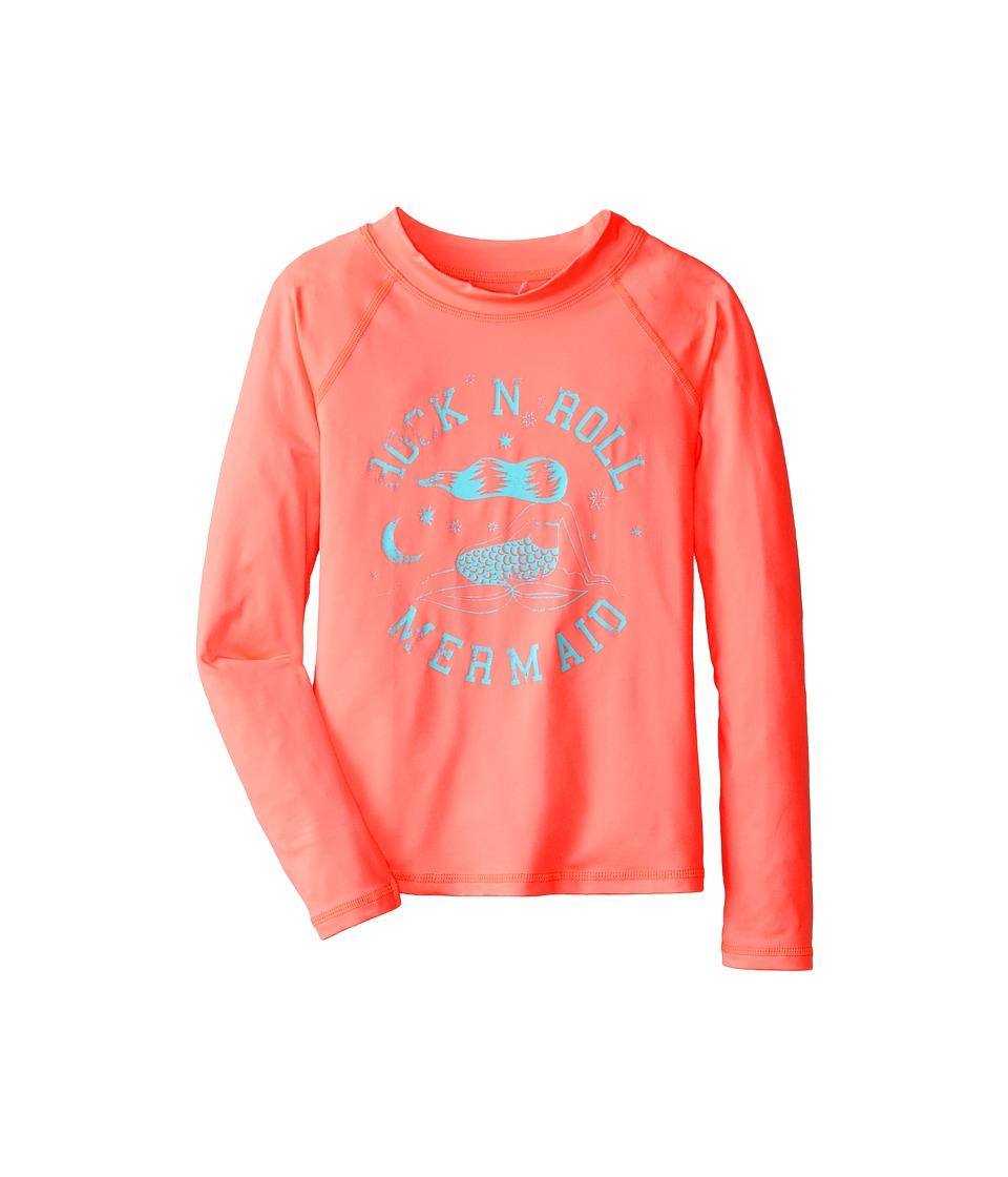 Billabong Kids - Mermaid Long Sleeve Rashguard (Little Kids/Big Kids) (Peachy Daze) Girl's Swimwear