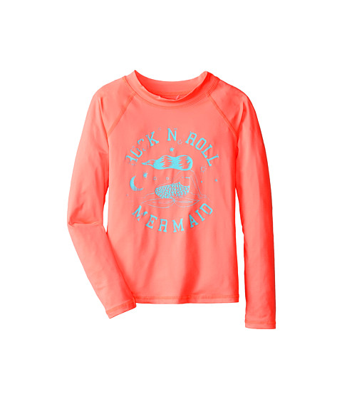 Billabong Kids - Mermaid Long Sleeve Rashguard (Little Kids/Big Kids) (Peachy Daze) Girl's Swimwear