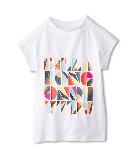 Billabong Kids - Blockhead Rashie Short Sleeve Rashguard (Little Kids/Big Kids) (White) Girl's Swimwear
