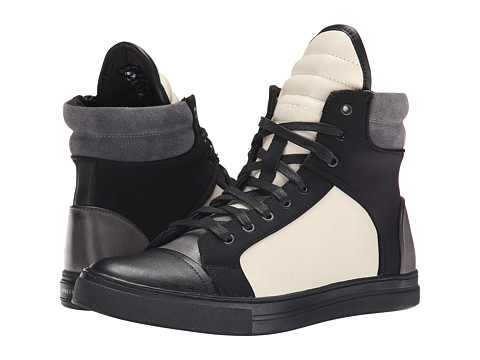 Kenneth Cole New York - Double Header (Off White/Black) Men's Lace-up Boots