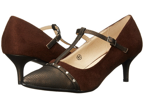 C Label - Felitsa-4 (Brown) Women's 1-2 inch heel Shoes