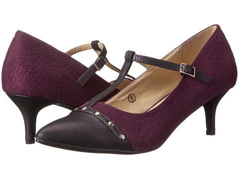 C Label - Felitsa-4 (Purple) Women's 1-2 inch heel Shoes