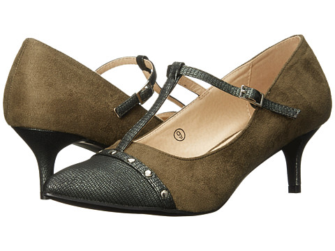C Label - Felitsa-4 (Olive) Women's 1-2 inch heel Shoes