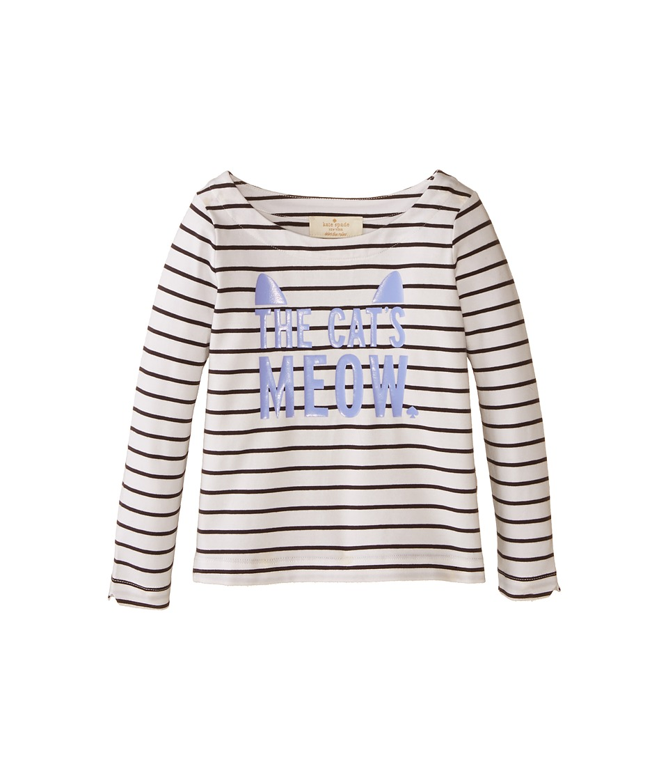 Kate Spade New York Kids - Roanne Top (Toddler/Little Kids) (Black/Cream) Girl's Clothing