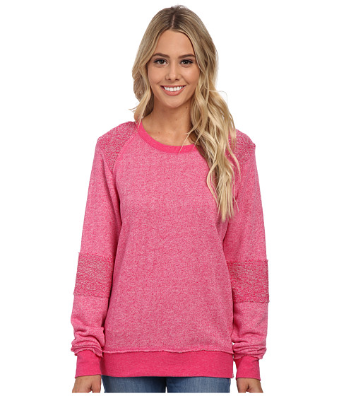Volcom - Lived In Crew Sweatshirt (Scream Magenta) Women's Sweatshirt