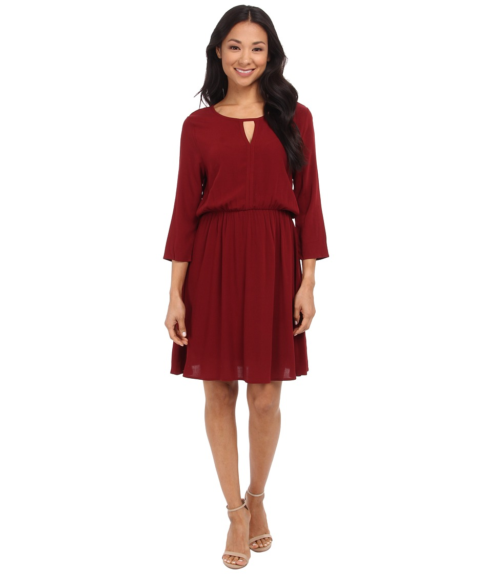 Brigitte Bailey Camille Dress (Wine) Women's Dress
