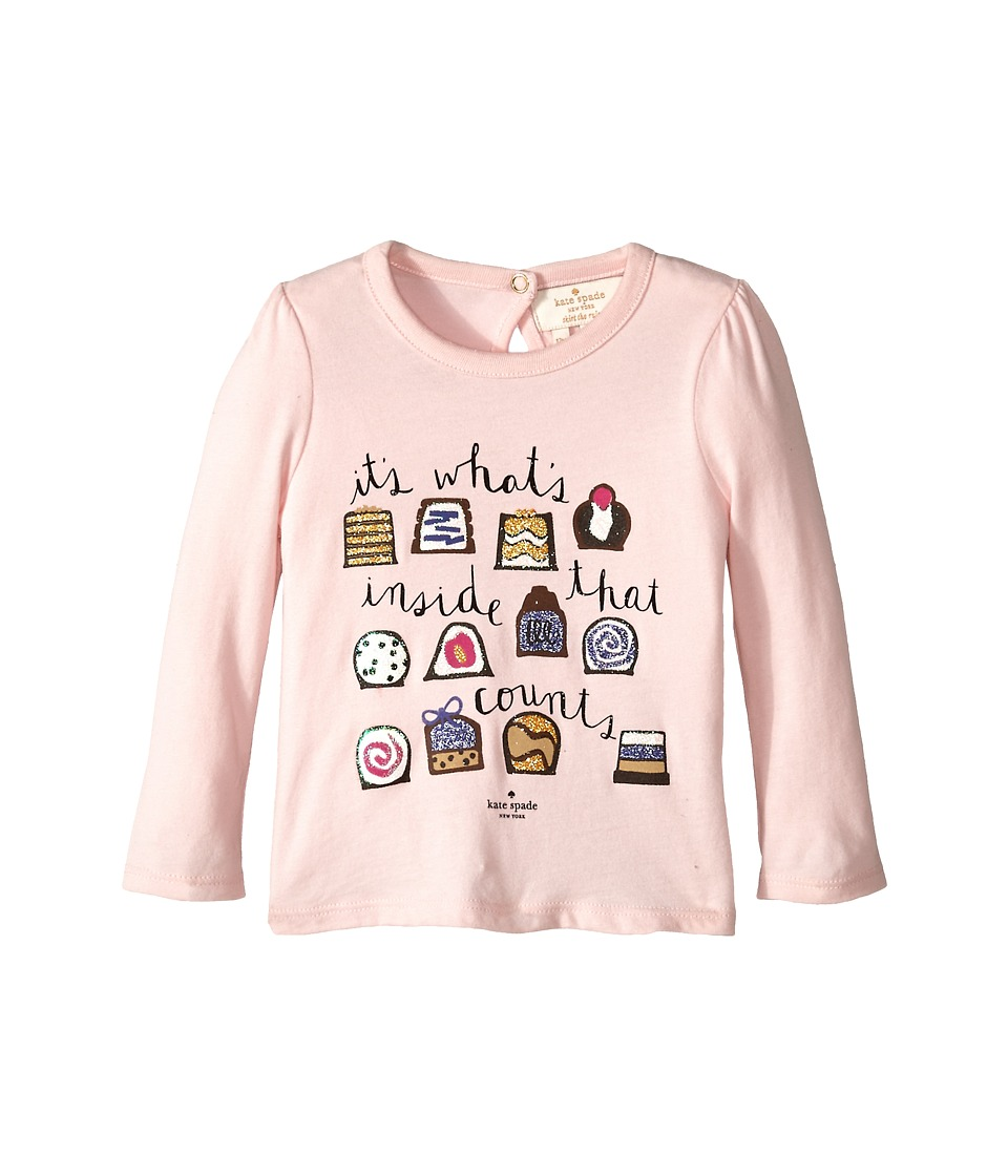 Kate Spade New York Kids - Chocolate Box Tee (Infant) (Pastry Pink) Girl